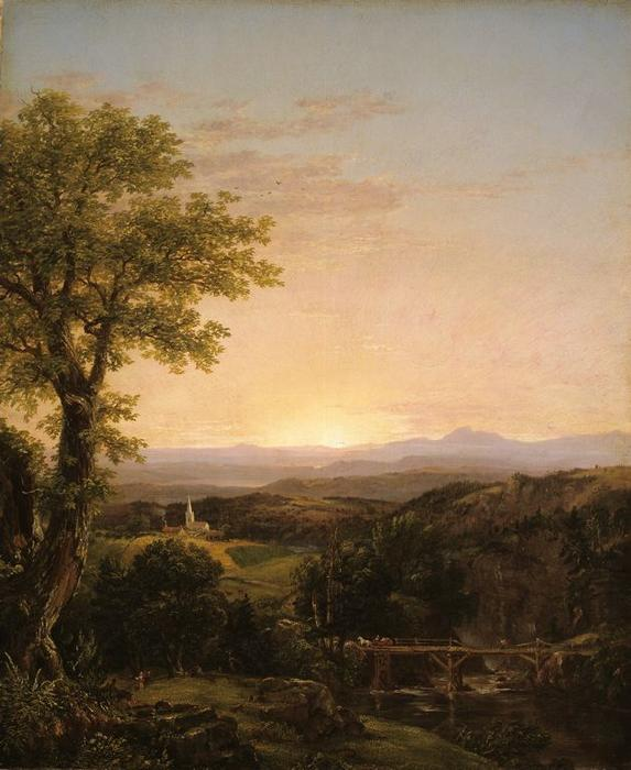 neu england landschaft , 1839 von Thomas Cole (1801-1848, United Kingdom)
