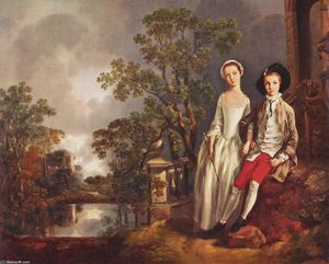 Thomas Gainsborough - Portrait Heneage Lloyd und seine Schwester Lucy