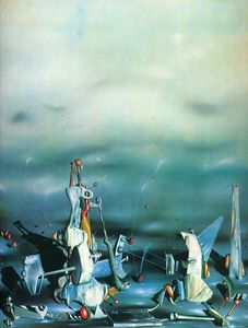 Yves Tanguy - Palace on windows Felsen