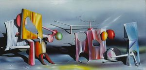 Yves Tanguy - Antwort auf  rot