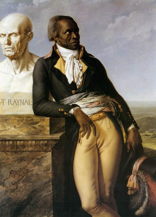Portrait of JB Belley, stellvertretender für Saint-Domingue, öl auf leinwand von Anne Louis Girodet De Roucy Trioson (1767-1824, France)