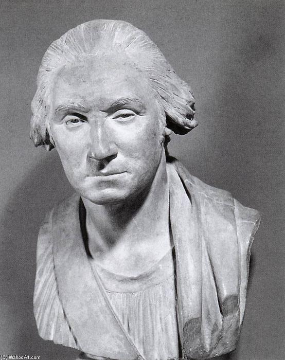 Brust of George Washington, marmor von Jean Antoine Houdon (1741-1828, France)