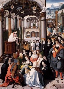 Aertgen Claesz Van Leyden - Church Sermon