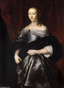 Jacob Van Loo - Portrait of Lucretia Boudaen