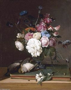 Louis Léopold Boilly - Still-Life of blumen in a glas vase