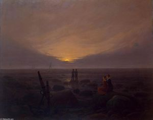 Caspar David Friedrich - Mondaufgang am Sea
