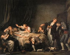 Jean-Baptiste Greuze - Des Vaters Fluch: The Son Bestraft