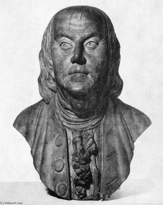 Brust von benjamin franklin, 1800 von William Rush (1756-1833) | Museum Kunstreproduktionen William Rush | ArtsDot.com
