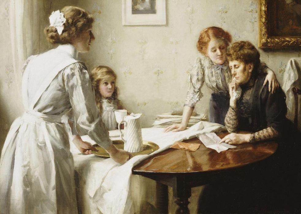 der brief, 1912 von Thomas Benjamin Kennington (1856-1916, United Kingdom) | Kunst-Wiedergabe | ArtsDot.com