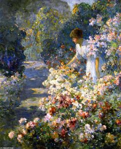Abbott Fuller Graves - Morgen in der  garten
