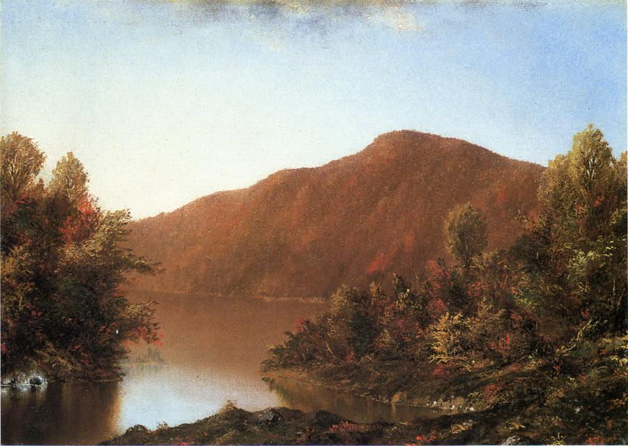 Mount Merino in den Catskills, öl auf leinwand von William Mason Brown (1828-1898, United States)