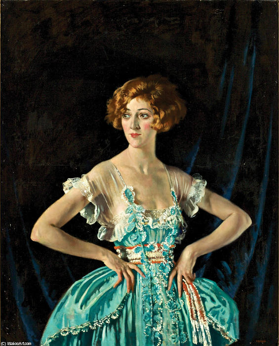 Mrs. Rubin Melville, 1920 von William Newenham Montague Orpen (1878-1931, Ireland) | Malerei Kopie | ArtsDot.com