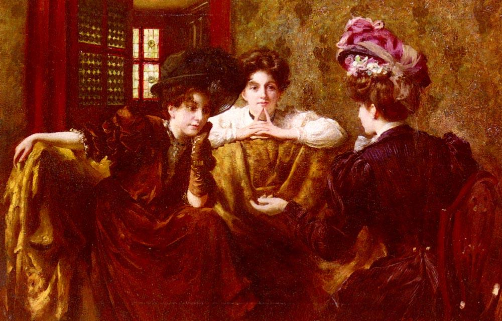 No Gossip von Thomas Benjamin Kennington (1856-1916, United Kingdom)