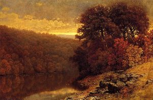 William Mason Brown - Oktober auf Groß Otter Creek, Vermont