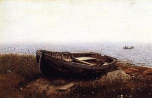 Frederic Edwin Church - The Old Boat (auch bekannt als The Abandoned Skiff bekannt)