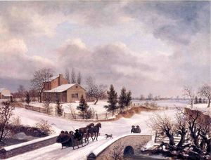 Thomas Birch - Pennsylvania winter szene