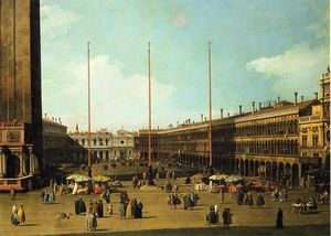 Giovanni Antonio Canal (Canaletto) - piazza san marco , blick in richtung san geminiano