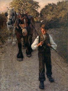 Henry Herbert La Thangue - The Plough Boy