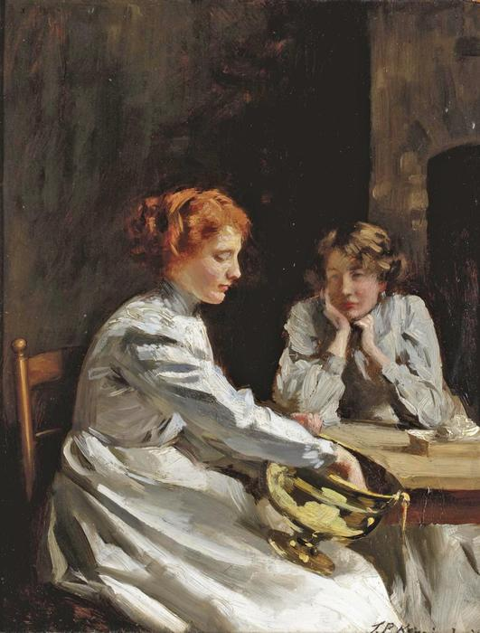 Polieren der Messing von Thomas Benjamin Kennington (1856-1916, United Kingdom)