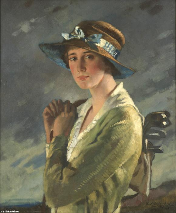 Portrait of Dolly Stiles von William Newenham Montague Orpen (1878-1931, Ireland)