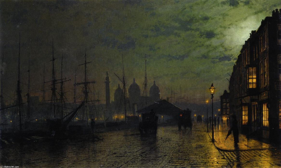 Princes Dock, Hull, 1887 von John Atkinson Grimshaw (1836-1893, United Kingdom) | ArtsDot.com