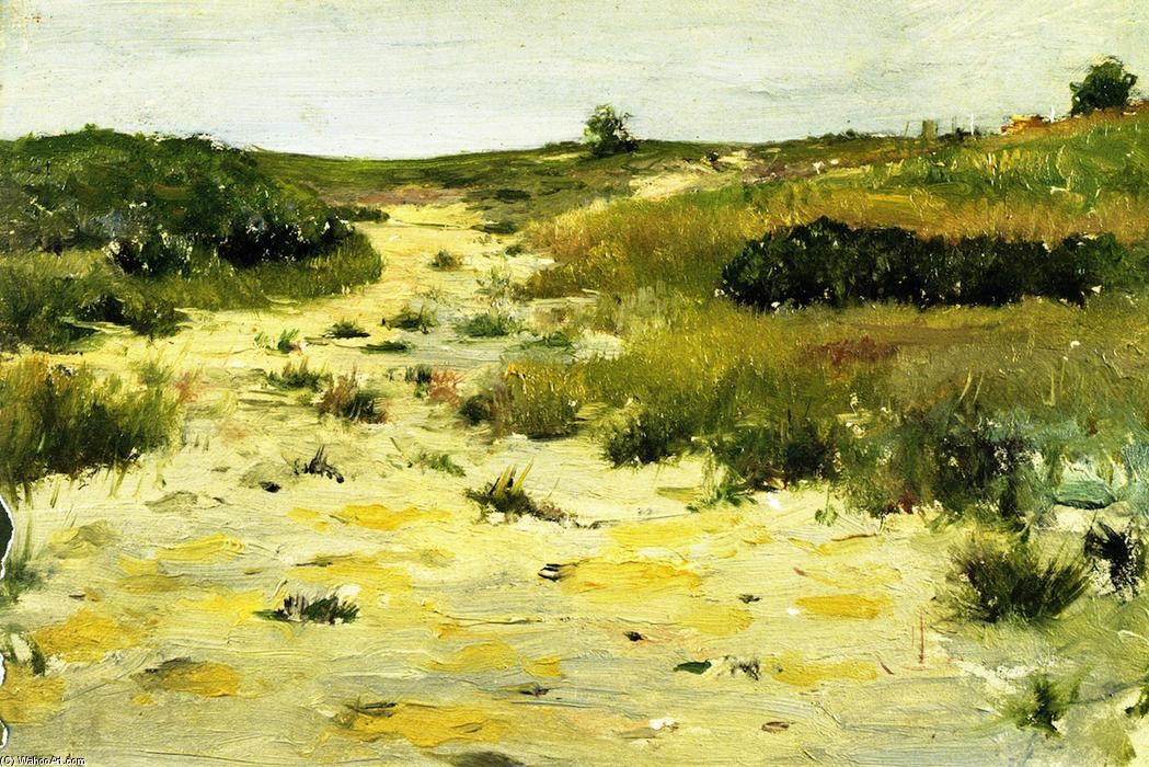 Shinnecock Hills (8), öl auf tafel von William Merritt Chase (1849-1916, United States)