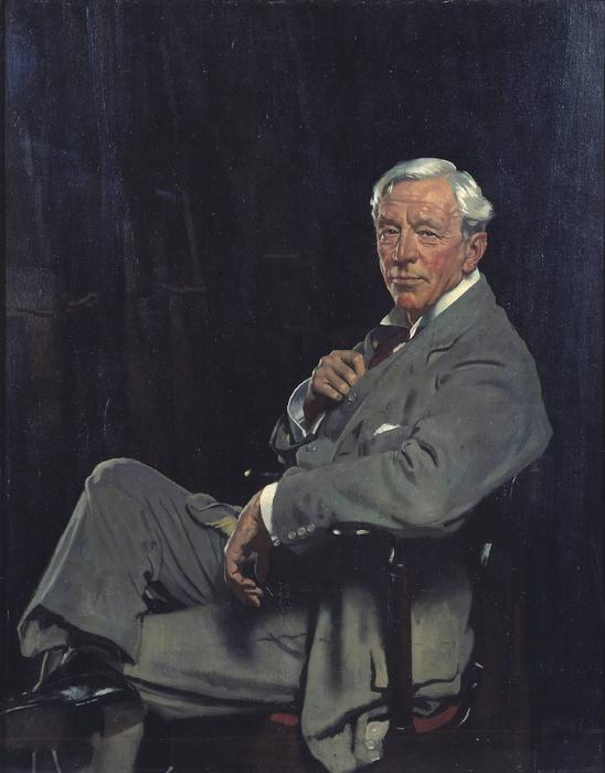 Sir William McCormick, öl auf leinwand von William Newenham Montague Orpen (1878-1931, Ireland)