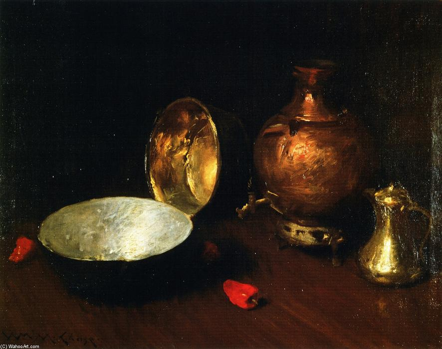 Stilleben Fisch  von William Merritt Chase (1849-1916, United States) | ArtsDot.com
