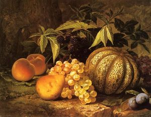 William Mason Brown - Stillleben mit Melone