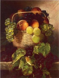 William Mason Brown - Still Life with Trauben . Pfla..