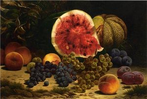 William Mason Brown - Stillleben mit Wassermelone, T..