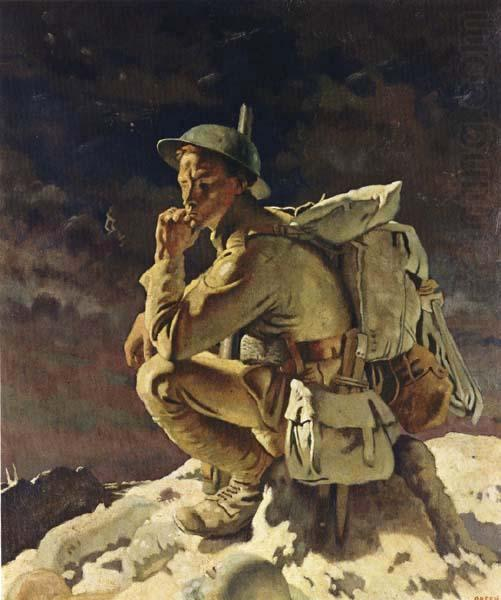 Der Denker, 1918 von William Newenham Montague Orpen (1878-1931, Ireland)