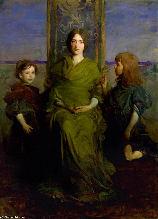 Virgin Enthroned, 1891 von Abbott Handerson Thayer (1849-1921, United States) | ArtsDot.com