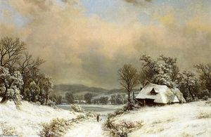 William Mason Brown - Winter ausgestellt an den Gegend