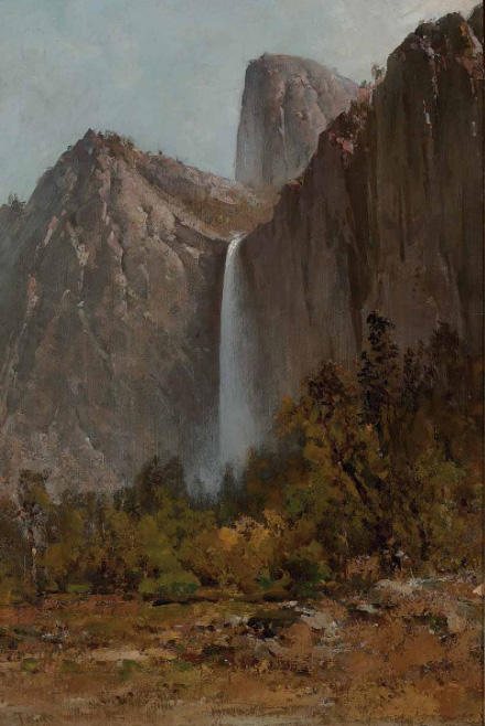 Yosemite Falls von Thomas Hill (1829-1908, United Kingdom)