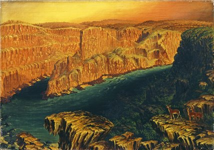 Schlucht unterhalb Victoria Falls In The Lower Zambezi von Thomas Baines (1820-1875, United Kingdom)