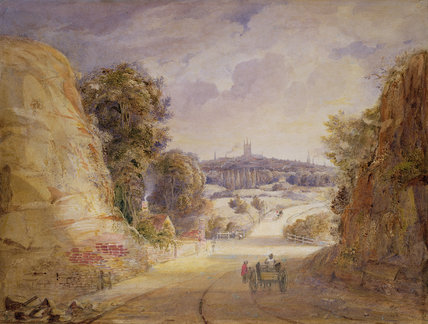 View Of Wolverhampton von Thomas Charles Leeson Rowbotham (1823-1875, United Kingdom)