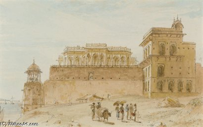 Die Chalees Setoon, Ghazipur von Thomas And William Daniell (1749-1840, United Kingdom)