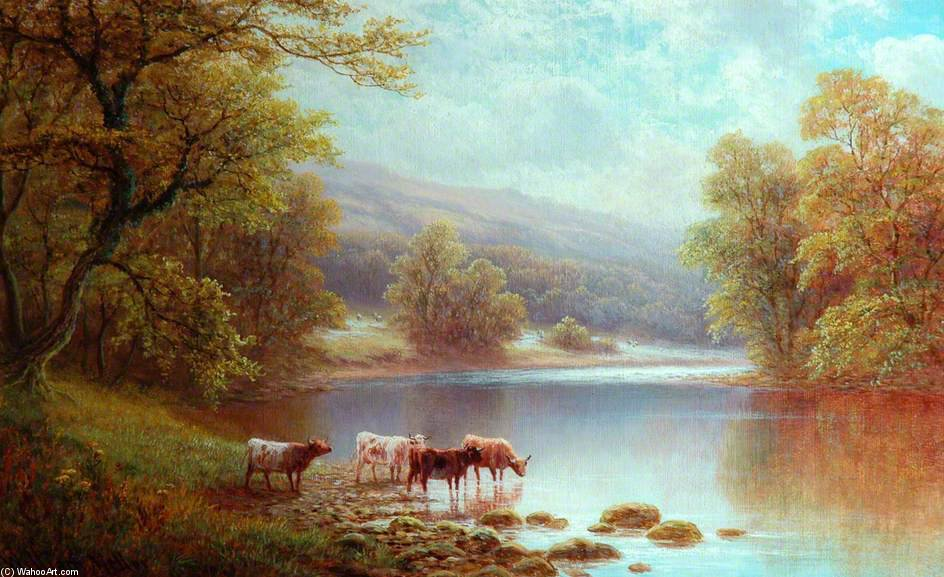 On The Wharfe, Bolton Woods von William Mellor (1851-1931, United Kingdom)