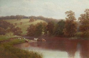 William Mellor - Die Wharfe, Nähe Ilkley