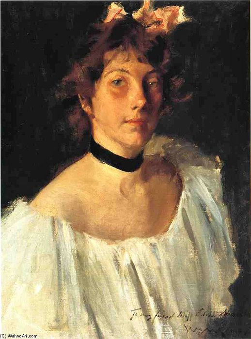 Fräulein Edith Newbold von William Merritt Chase (1849-1916, United States)
