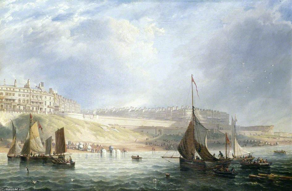 Kemp Town, Brighton, East Sussex, aus dem Meer von John Wilson Carmichael (1800-1868, United Kingdom)