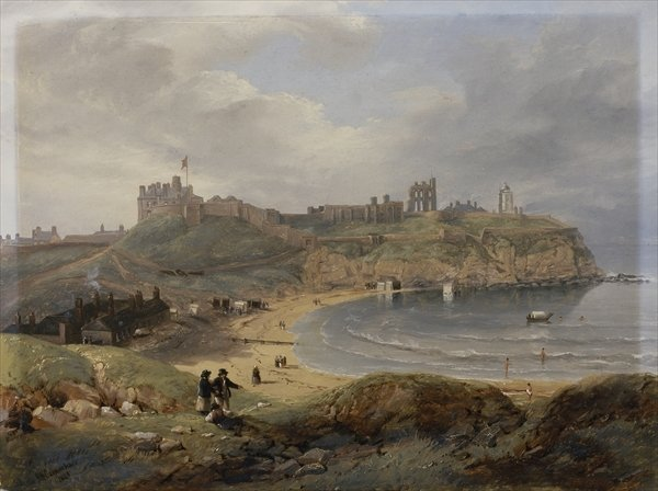 Priors Haven, Tynemouth von John Wilson Carmichael (1800-1868, United Kingdom)