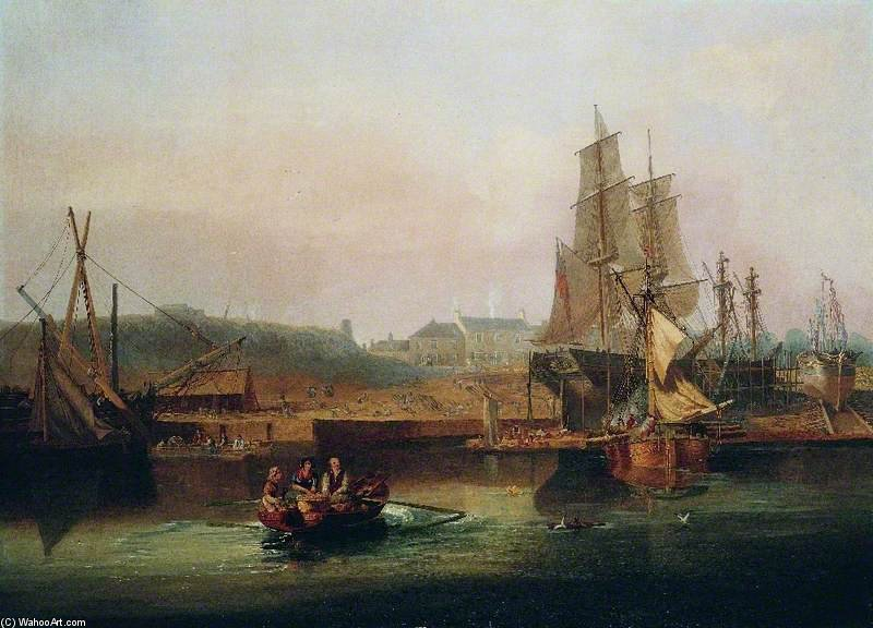 die werft in hessle Klippen , east riding of yorkshire von John Wilson Carmichael (1800-1868, United Kingdom)