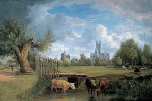 Alfred Stannard - Canterbury, Kent, From The Stour Meadows