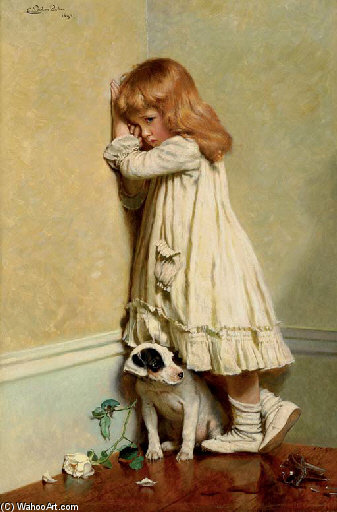 In Disgrace - von Charles Burton Barber (1845-1894, United Kingdom)