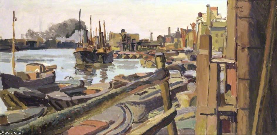 Rotherhithe, London von Duncan Grant (1885-1978, Scotland)