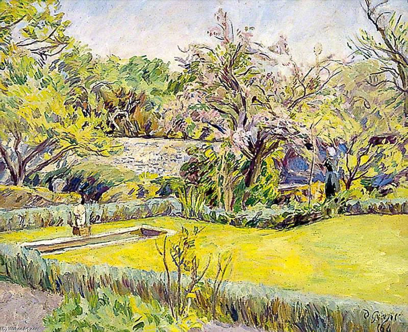 Walled Garden in Charleston, East Sussex von Duncan Grant (1885-1978, Scotland)