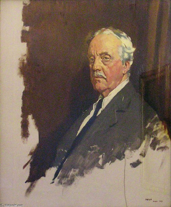 Arthur James Balfour von William Newenham Montague Orpen (1878-1931, Ireland)
