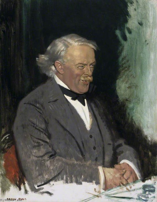 david lloyd george - von William Newenham Montague Orpen (1878-1931, Ireland)